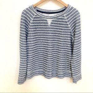 Lou & Grey blue white striped sweater top Z small
